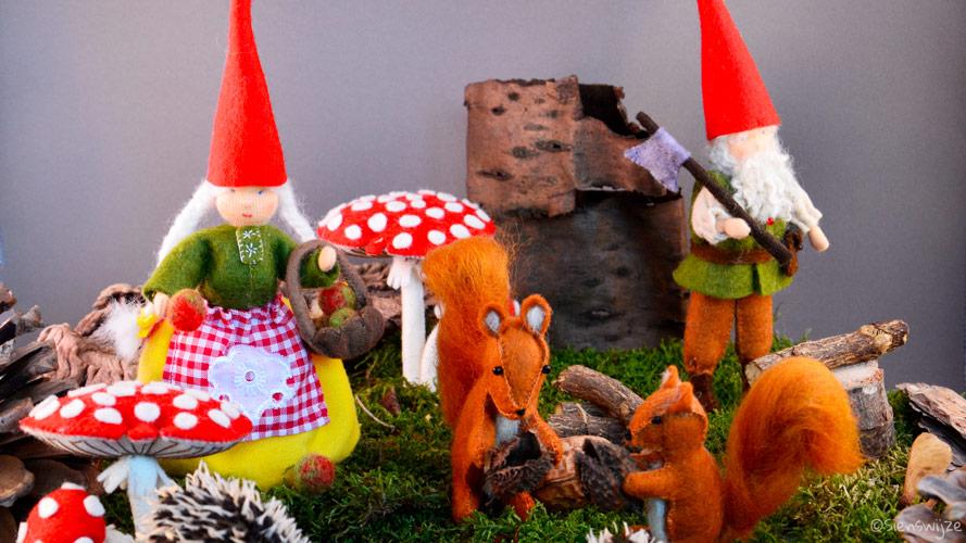 Seizoentafel herfst kabouters en eekhoorntjes
